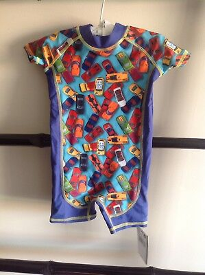 Pumpkin Patch Size 00(3-6mths) BNWT Sunsuit/swimmers Cars Baby Boy