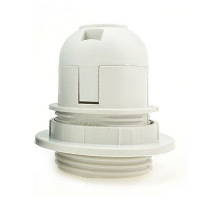 E27 Edison Screw Cap Socket White/Black Pendant Ceiling Light Lamp Bulb Holder