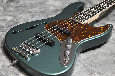 Bacchus Woodline Ash Hollow 4string Green Metallic