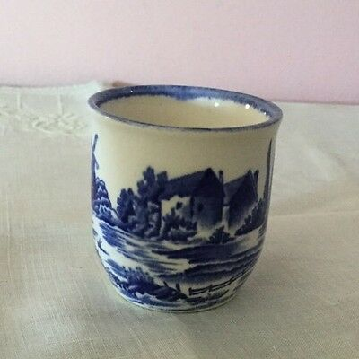 Royal Doulton Norfolk Egg Cup.Blue & White. Made In England