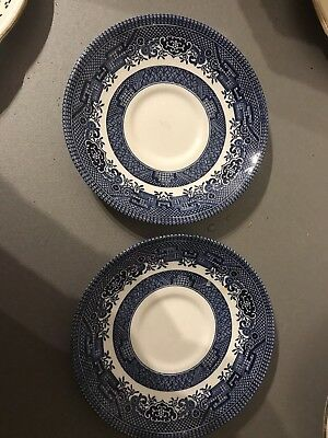 Churchill England Willow Pattern Saucers(2)
