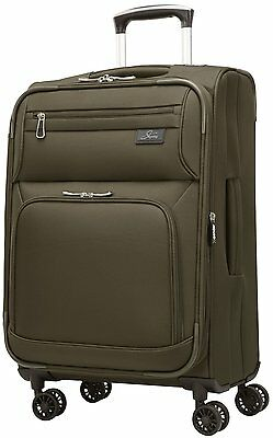 """Skyway Luggage Sigma 5.0 21"""" Spinner Expandable Carry on - Forest Green"""