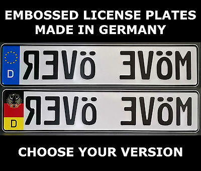 Move Over German Germany Euro European License Plate Number Plate Ready Alu