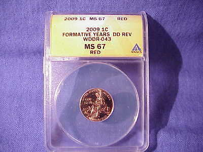 2009 P Formative Year Lincoln Cent Error DDR Best of Variety BU WDDR 043 MS 67