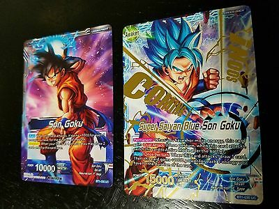 DBZ DBS Dragon Ball Z Super Card Game Bandai Super Saiyan Blue Son Goku PROMO