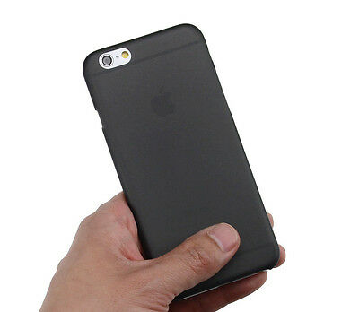 Ultra Thin Slim Hard 0.3mm Cover Case Skin Case for iPhone 6 6s Black