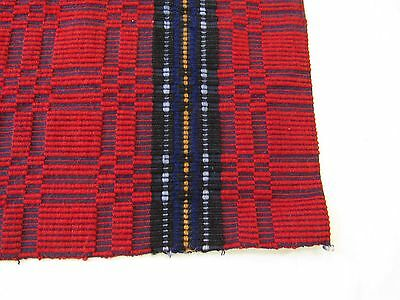 19C Hand Made Pillow Case Cover 100% Wool Red Stripes Sofa Kitchen Home Art