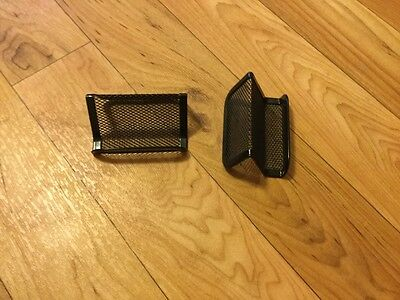 Business Card Holder Black Mesh