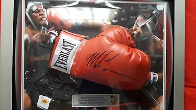 Hand Signed Mike Tyson Red Everlast Boxing Glove JSA/DNA authenticated
