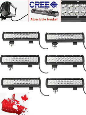 6PCS 12INCH 72W CREE LED Work Light Bar Spot Beam for Offroad JEEP SUV 4WD ATV