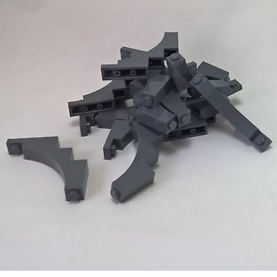 LEGO LOT OF 50 NEW 1 X 5 x 4 DARK BLUISH GREY TREE BRANCHES CASTLE ARCH PIECES