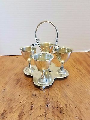 Antique Silver plated  EPNS 4 Egg Server Caddy NO SPOONS
