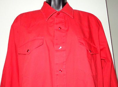 M92 KARMAN GOLD COLLECTION western-style red square dance shirt 16, 32-1/2