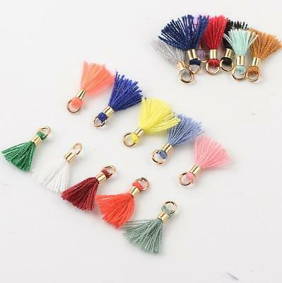 1CM MiNi Copper ring cotton tassel Handmade weave DIY jewelry accessories