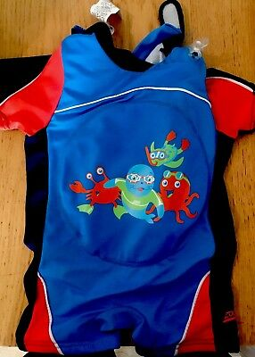 Zogg Inflatable Swimming Costume Boy Girl All In One Swimsuit 1-2 Years