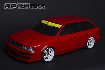 NEW Unpainted APlastics RC Drift car body 1:10 Audi RS2 style