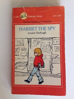 Vintage 1975 Harriet The Spy Louise Fitzhug A Dell Yearling Book The Zany Advent