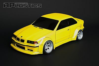 NEW Unpainted APlastics RC Drift car body 1:10 BMW E36 wide style