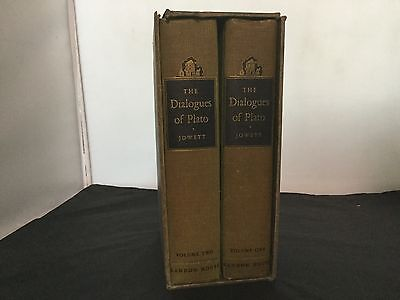 1937 2 Vol. Book Set of The Dialogues Of Plato by B. Jowett, M.A Book Rare