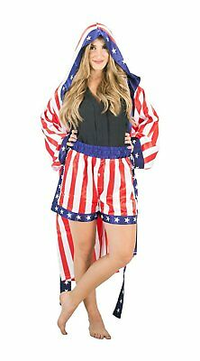 Adult Unisex Rocky Apollo Creed Satin Robe with Boxer Shorts