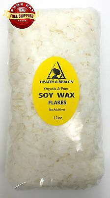 SOY WAX FLAKES ORGANIC VEGAN by H&B Oils Center AKOSOY FOR CANDLE PURE 12 OZ