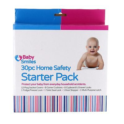 30 Piece Baby Safety Kit Plug Covers Locks Child Proofing First Home Starter Set