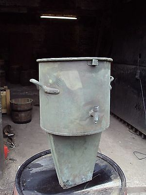 Large old copper Maignens wine filter