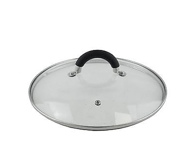 Replacement Vented GLASS Saucepan LID Frying Saute Wok Casserole Spare Pan Cover
