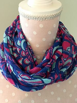 Girls Lilly Pulitzer Mini Riley Infinity Scarf Reel Me In Pink, Blue, Turquoise