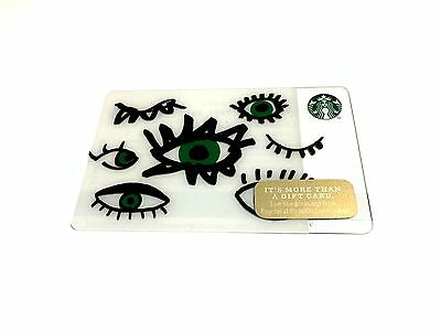 👀 New 2014 Green Dot Eyes Open Starbucks Limited Edition Gift Card 1 Of 99 Set