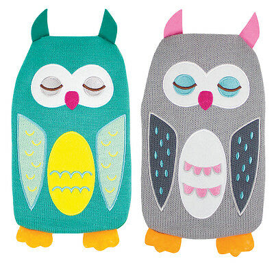 Hot Water Bottle With Owl Design Cover Warm Winter Pain Release