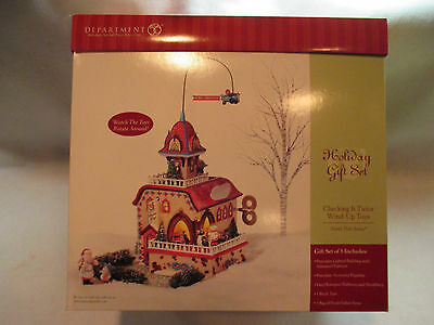 """Dept 56 North Pole Series """"Checking It Twice Wind-Up Toys""""  #56 56757"""