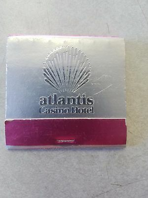 Vintage Matchbook Atlantis Atlantic City Hotel Casino Formerly Playboy Club #2