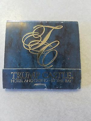 Vintage Matchbook Trump Castle Atlantic City Hotel Casino President Donald #2