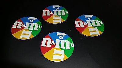 1997 VTG M & M Mars Drink Cork Collector Coasters Set of 4