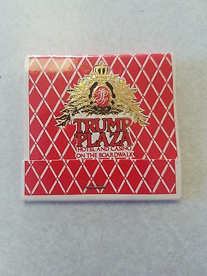 Vintage Matchbook Trump Plaza Atlantic City Hotel Casino President Donald