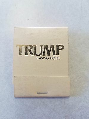 Vintage Matchbook Trump Casino Hotel Atlantic City President Donald