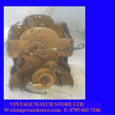 Queen Anne 30Hour Staffordshire Miniature Turret or LongCase Clock Movement 1710