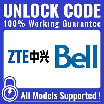 Unlock CODE for Bell Virgin - ALL ZTE Axon Axon 7 Grand X 4 & Others