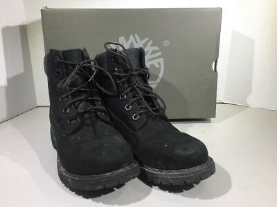 Timberland Women's Size 7.5 6In Premium Black Nubuck Ankle Boots Shoes XJ-153