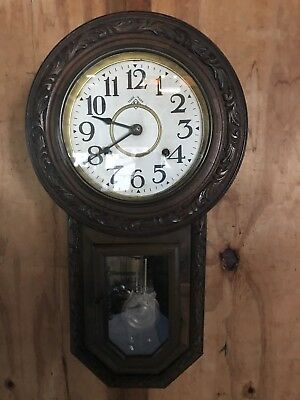 Antique Japanese Long Drop 8 Day Spring Aichiclocks Clock