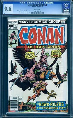 Conan The Barbarian 75 in CGC 9.6, white pages, perfect cover, Buscema, Chan