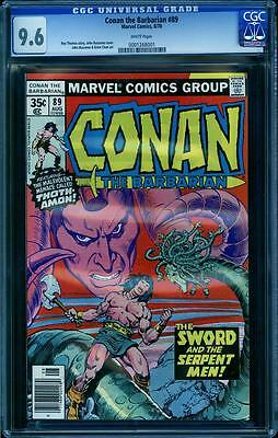 Conan The Barbarian 89 in CGC 9.6, white pages, Buscema, Chan art