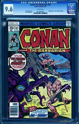 Conan The Barbarian 87 in CGC 9.6, white pages, perfect spine and centering