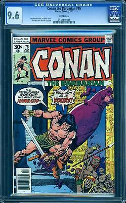 Conan The Barbarian 76 in CGC 9.6, white pages, Buscema, Chan