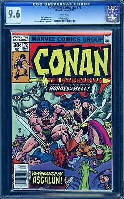 Conan The Barbarian 72 in CGC 9.6, white pages, Gil Kane art