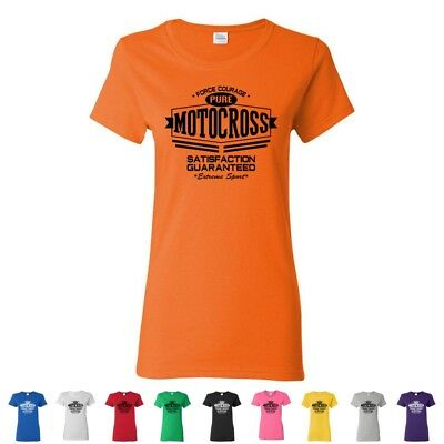 Pure Motocross Extreme Sport Ladies Tees Off Road Womens Dirt Bike T-Shirts