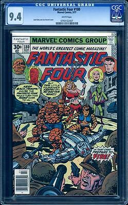Fantastic Four 180 in CGC 9.4, white pages, Jack Kirby, perfect centering