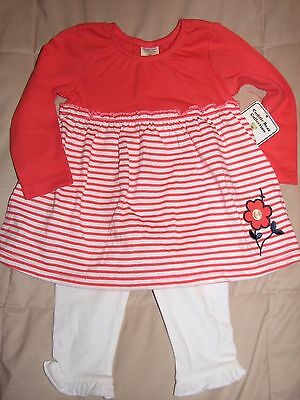 NWT - Infant Girls Cuddle Bear Collection 2-Piece Outfit Size 12 Months