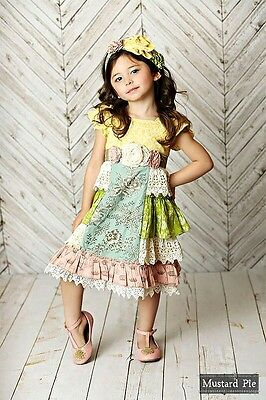 Mustard Pie Delphine Tea Party Dress Girls Size 8 New With Tags